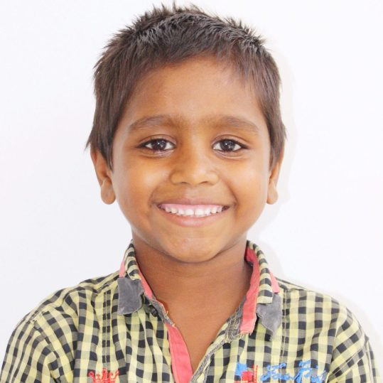 Click here to sponsor Ashok. Hi, my name is Ashok! I am the youngest of my five siblings and I am very mischievous. My parents neglected me and so mostly my older sister and brother took care of me. When Project I Am came to work with my family, my mom was quick to allow me to go because she did not want to continue having the responsibility to watch me. Even though I really enjoy living at the rescue home, I also cry a lot missing my mom even though I know she does not miss me. My older brother is in the same rescue home as me and he loves me a lot. I like going to school and I am building towers with blocks in the afternoon. I hope one day I can become a builder.