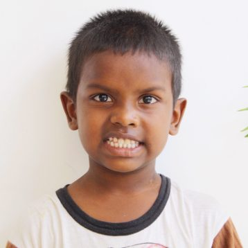 Click here to sponsor Sanhay.Hi, my name is Sanjay! Recently, both of my parents died. I tried to go to other relatives to stay within the family, but none of them wanted to take care of me. I was neglected and on the verge of being left in the streets. Thankfully, before that happened, one of the neighbors called the head of Project I Am International and told about my situation. I now live in one of the rescue houses and go to school. I am in the first grade. After school, I like running around outside and playing pranks on all the other kids.